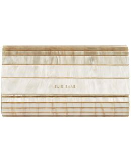 Panelled Acrylic Clutch