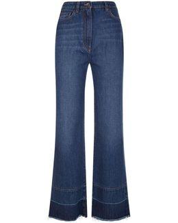 Released Hem Wide Leg Jeans