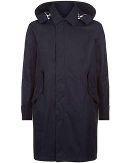 Gabardine Coat With Hood