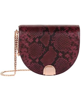 Annii Snake Print Shoulder Bag