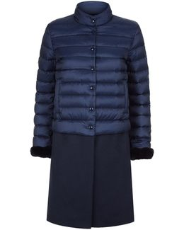 Monora Quilted Contrast Coat