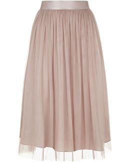 Crystal Tulle Midi Skirt