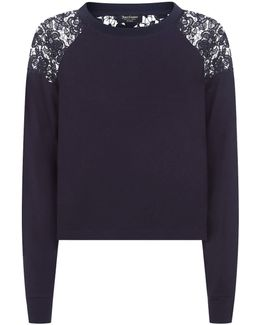 Terry Lace Sweater