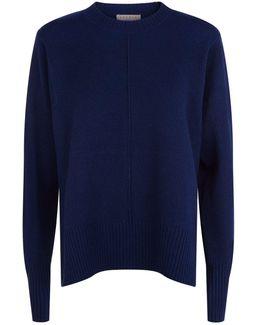 Side Split Wool-cashmere Sweater