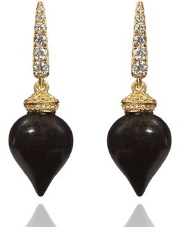 Touch Wood Ebony Earrings