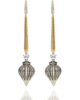 Touch Wood Diamond Drop Earrings