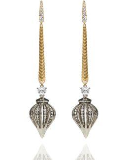 Touch Wood Diamond Drop Earrings