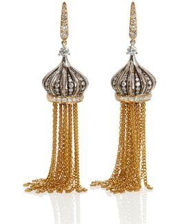 Touch Wood Tassel Earrings