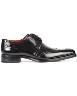 Bay Black Leather Brogues