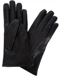 Fur-Lined Leather Gloves