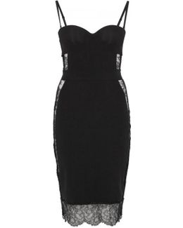 Shape Allure Black Lace-panelled Slip