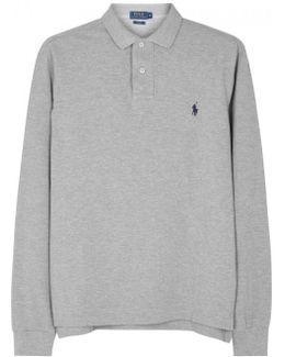 Grey Slim Piqu Cotton Polo Shirt - Size Xxl