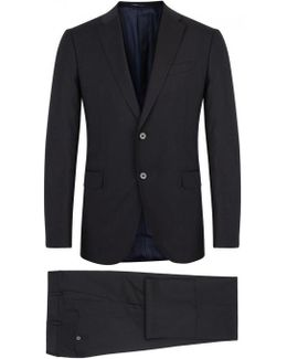 Navy Wool Suit - Size 46