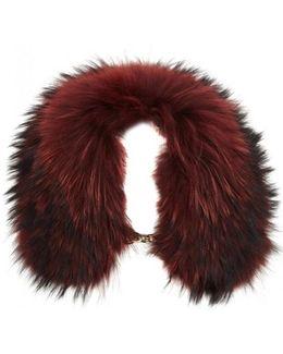 Dark Red Fur Collar