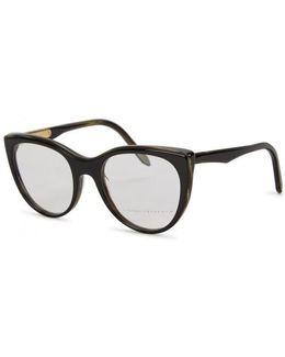 Layered Kitten Black Cat-eye Optical Glasses