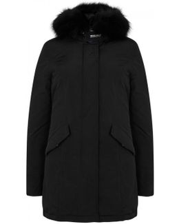 Luxury Arctic Fur-trimmed Shell Parka - Size Xs