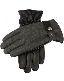Guildford Flannel And Leather Gloves