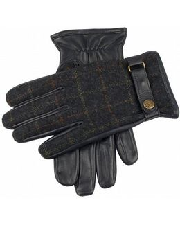 Edinburgh Flannel And Leather Gloves