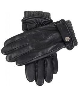 Henley Black Touchscreen Leather Gloves