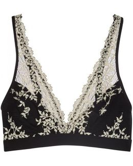 Embrace Lace Black Soft-cup Bra - Size 38