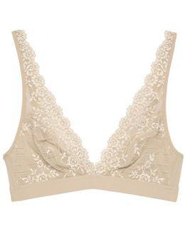 Embrace Lace Blush Soft-cup Bra - Size 32