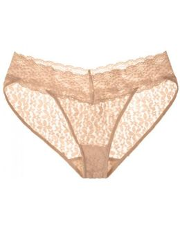 Halo Blush Lace Briefs - Size L