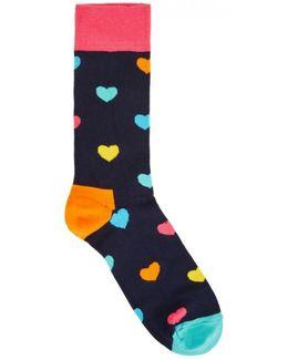 Heart Cotton Blend Socks
