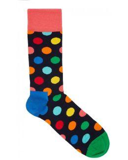 Dot Cotton Blend Socks