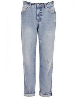 Light Blue Boyfriend Jeans - Size 14