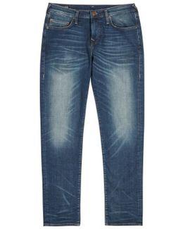 Geno Blue Slim-leg Jeans - Size W33/l32