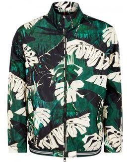 Lamy Leaf-print Shell Bomber Jacket - Size 4