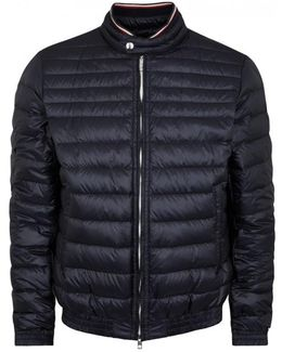 Garin Navy Quilted Shell Jacket - Size 3