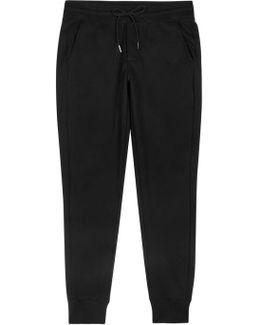 Black Cotton Jogging Trousers