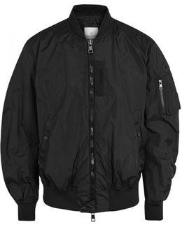 Timothe Black Shell Bomber Jacket - Size 5