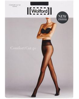 Comfort Cut Black 40 Denier Tights - Size L