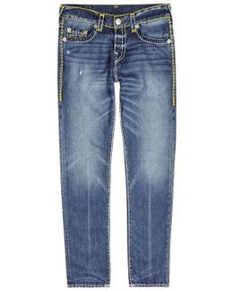 Rocco Super T Blue Straight-leg Jeans - Size W36/l34