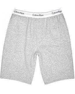 Grey Cotton Blend Lounge Shorts