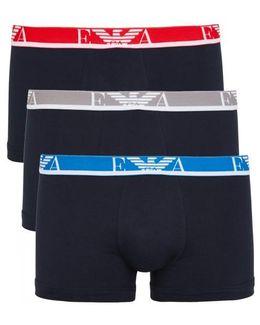 Navy Stretch Cotton Boxer Briefs