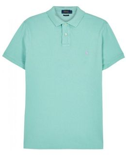 Aqua Custom Piquã Cotton Polo Shirt