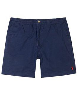 Navy Stretch Cotton Shorts