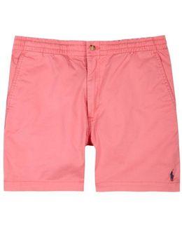 Pink Stretch Cotton Shorts