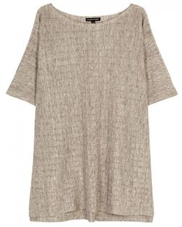 Stone Fine-knit Linen Top