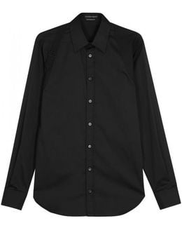Black Harness Cotton Shirt