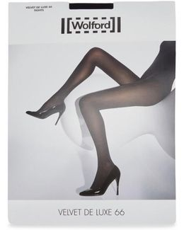 Velvet De Luxe Black 66 Denier Tights - Size Xl