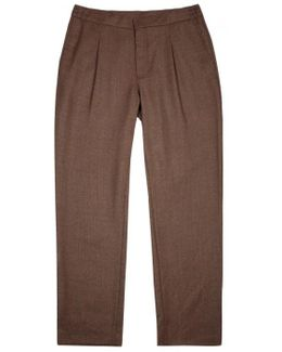 Cropper Brown Stretch Wool Trousers
