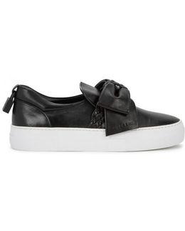 40mm Black Suede Skate Shoees