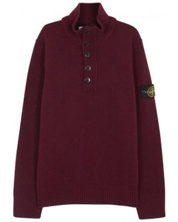 Burgundy Wool Blend Jumper