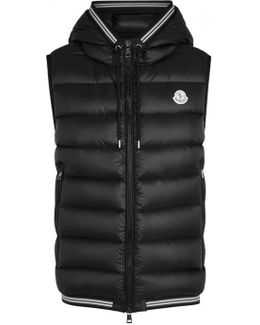 Amiens Black Quilted Shell Gilet