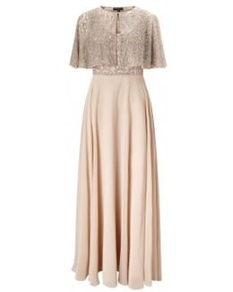 Short Sleeve Popover Gown