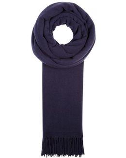 Navy Wool Scarf